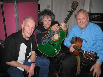 Allan with Donovan and Sean Cannon of the Dubliners