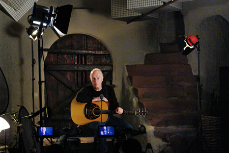 Allan being filmed at the Stockfisch Studios in Northeim, Germany. Photo by Sarah Rotter